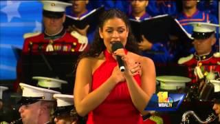 Jordin Sparks sings national anthem