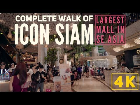 IconSiam Complete Walk in 4K! Largest Mall in SE Asia, 4th Largest In the World