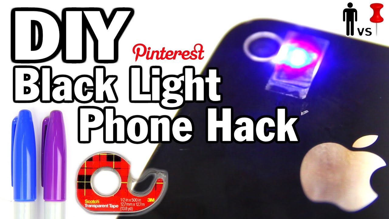 DIY Black Light Phone Hack   Man Vs. Pin #32   YouTube