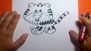 Como dibujar un tigre paso a paso 2   How to draw a tiger 2