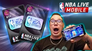BIGGEST SIGNATURE BUNDLE OPENING EVER! THREE 91OVR TOPPERS + QUADRUPLE ELITE PACKS!! NBA LIVE MOBILE
