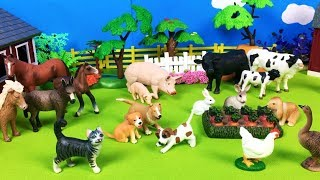 Learn Farm Animals Names For Babies - Fun Animal Toys for Kids - Baby and Mom