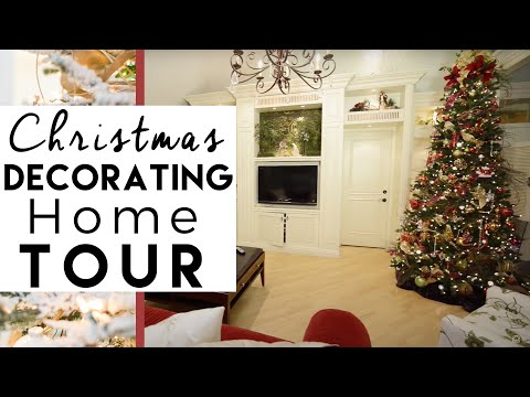 Christmas decorating home tour hanging ball chandelier for Home decorations youtube