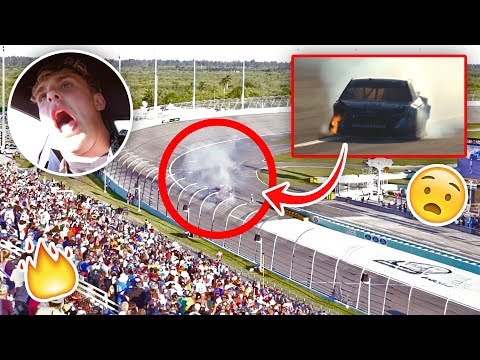 Our NASCAR Caught On Fire During The Race… {EMERGENCY}