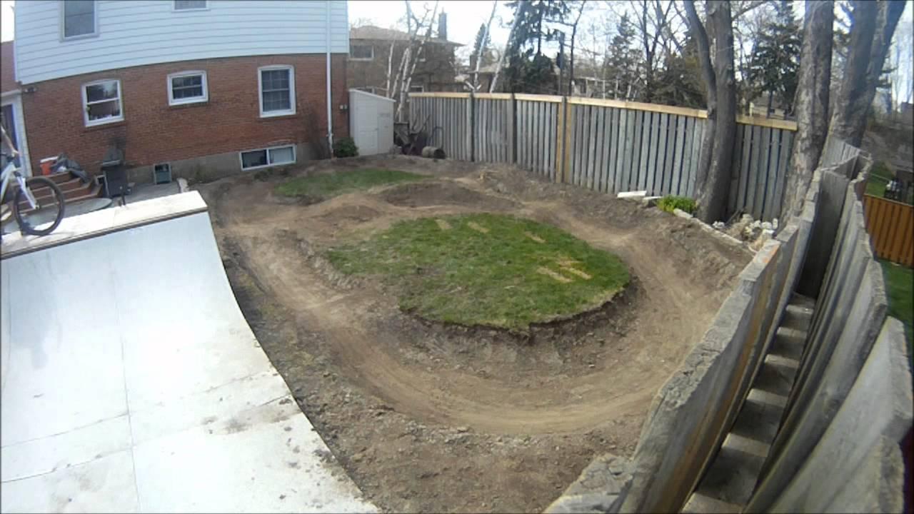 Backyard Pump Track Designs : My Mini Pump Track 13  YouTube