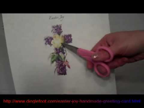 Easter Joy Handmade Card YouTube – Hand Made Easter Cards
