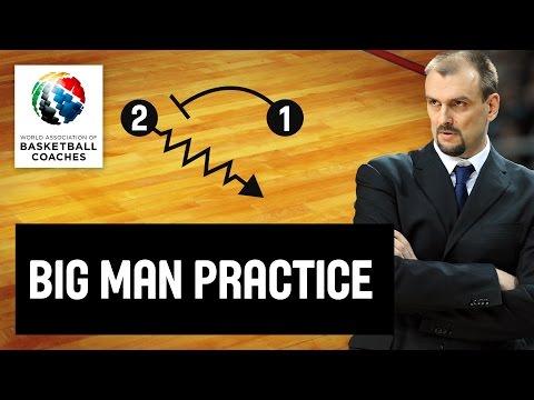 Big man practice - Zan Tabak  - Basketball Fundamentals