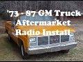 1973-87 GM Truck Custom Autosound Radio Install