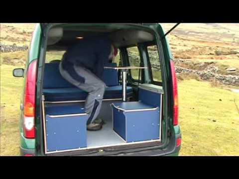 amdro jump renault kangoo campervan youtube. Black Bedroom Furniture Sets. Home Design Ideas