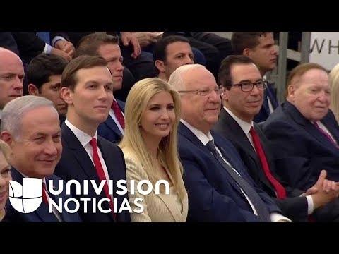 Sigue la ceremonia de apertura de la embajada de EEUU en Jerusalén.