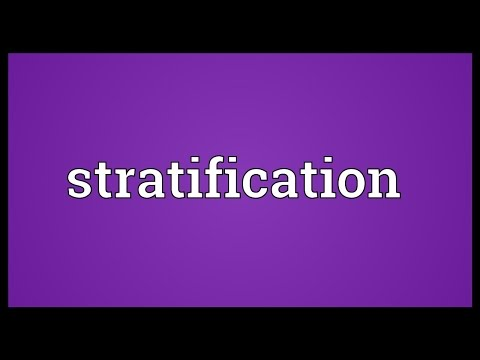 Stratification Meaning
