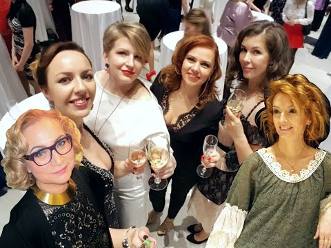 Видео: Новогодний корпоратив, красавицы, платья. Экспофорум, Санкт-Петербург