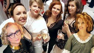 Новогодний корпоратив, красавицы, платья. Экспофорум, Санкт-Петербург.