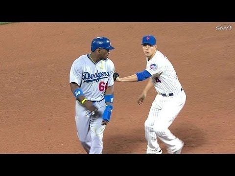 LAD@NYM: Infield Fly Rule Is Called, Puig Doubled Off