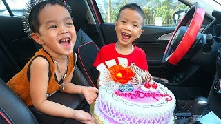 Happy Birthhday Song |  We are in the Car | Nursery Rhymes & Kids Songs - Kids Diana TV