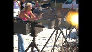 Beautiful Girls firing machine guns of all types. Its all here!