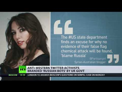 Anti-Western Twitter activists branded 'Russian bots' by UK government