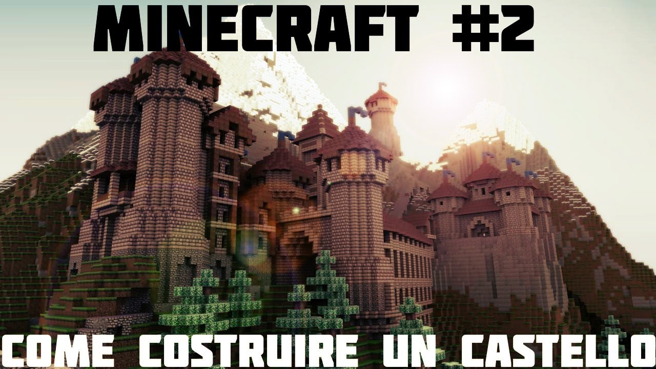 Tutorial minecraft 2 come costruire un castello for Costruire un ranch