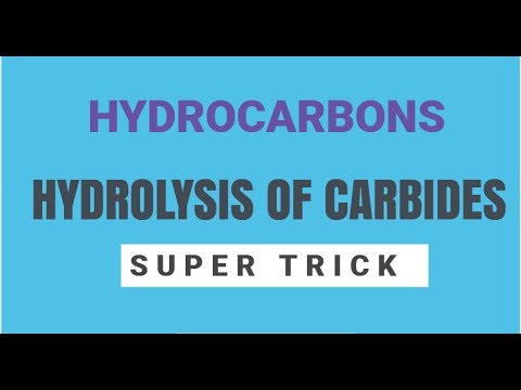 Hydrolysis Of Carbides : Super Trick With Explanation ( IIT , NEET & Boards)