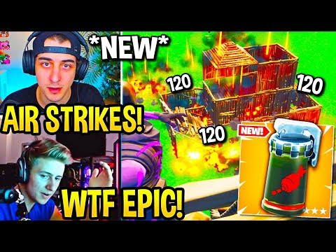 "STREAMERS USE *NEW* ""AIR STRIKE"" GRENADE In Fortnite!"
