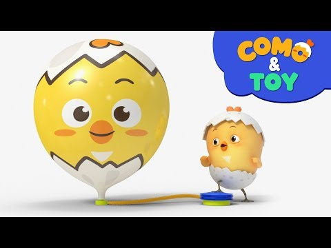 Como and Toys | Amazing balloon | Learn colors and words | Cartoon video for kids | Como Kids TV
