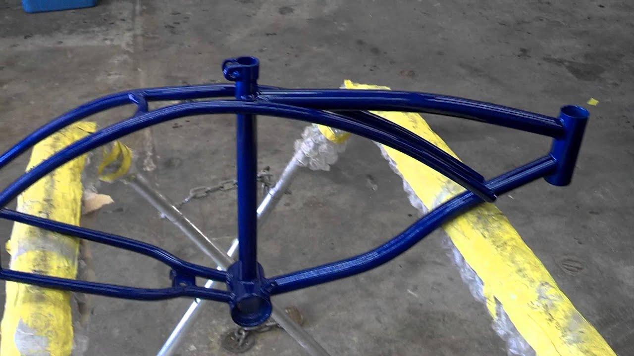 Lowrider bike frame update - YouTube