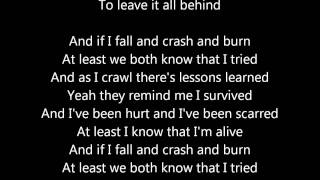 """Crash and Burn"" by Lifehouse Studio Version WITH lyrics"