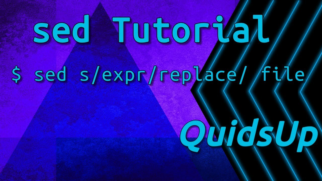 Linux Terminal Basics: Sed – Find & Replace