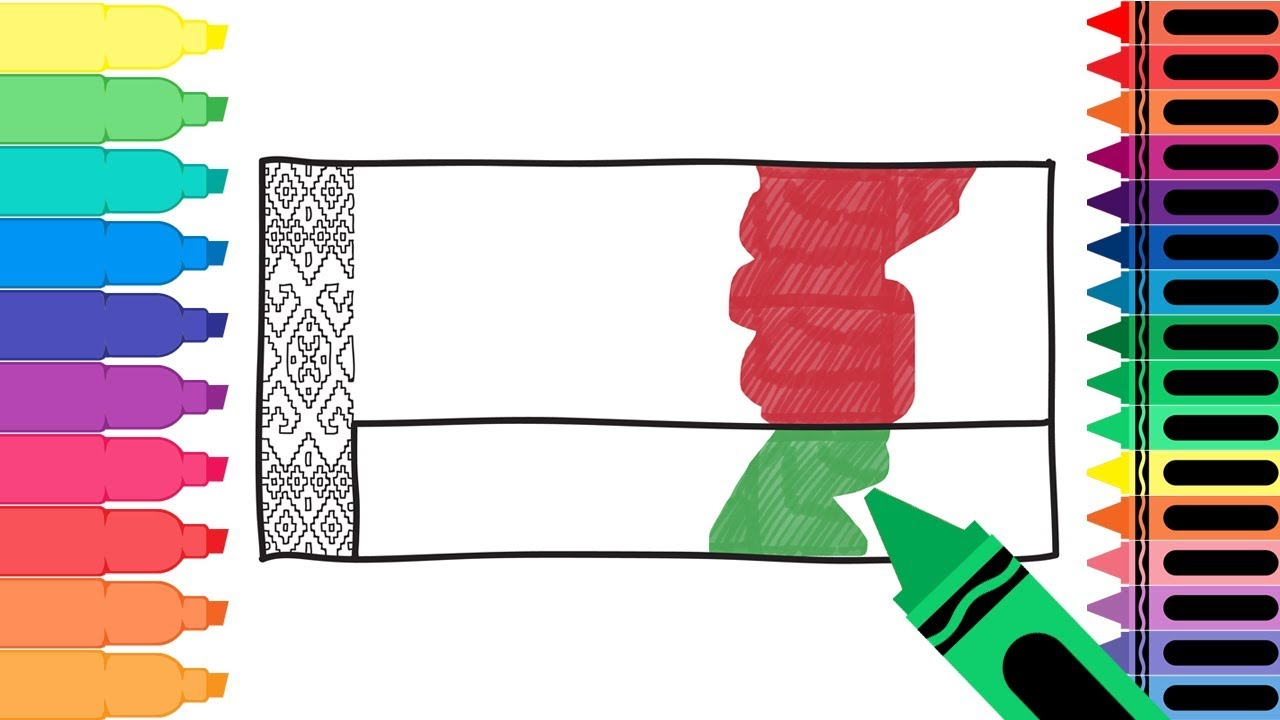 How To Draw A Belarus Flag