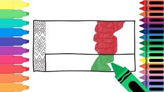 How to Draw a Belarus Flag - Coloring Pages for kids - Draw the Belarusian Flag | Tanimated Toys
