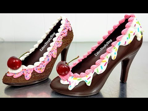 9d85a6b264d How To Make a CHOCOLATE HIGH HEEL SHOE / Tempered Chocolate & Royal ...