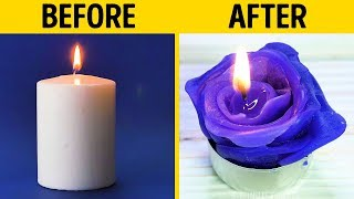 18 CUTE CANDLES YOU CAN MAKE YOURSELF