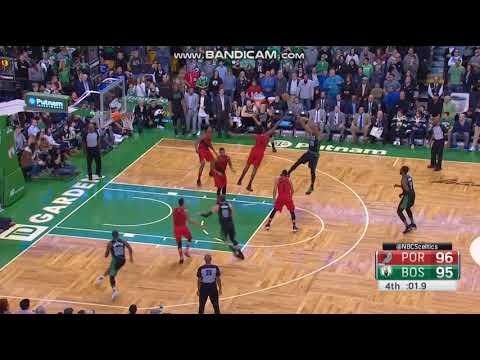 Al Horford Game-Winner - Boston Celtics vs. Portland Trailblazers - 04/02/2018