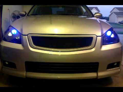 05 06 Altima Custom Projector Headlight Youtube