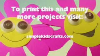 How to make a Poster Board & Egg carton Pre-K decoration, Wall-flowers - EP - simplekidscrafts