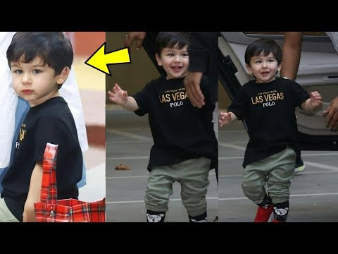 Taimur Ali Khan looking so confident for his first shot for his ad film.!