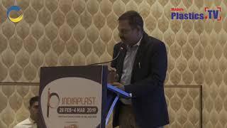 Mr. Jigish Doshi at IndiaPlast 2019 Ahmadabad Roadshow addressing the guest