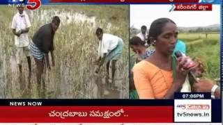 Farmers Cries over Crop Loss   Huge Loss to Farmers in Jagtial : TV5 News