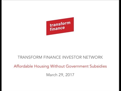 TFIN Affordable Housing Without Government Subsidies 3/29/2017