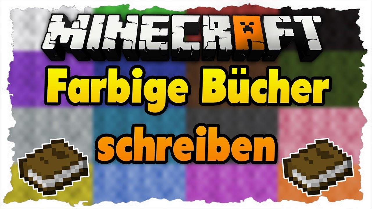 minecraft mit farben in b cher schreiben tutorial deutsch hd youtube. Black Bedroom Furniture Sets. Home Design Ideas