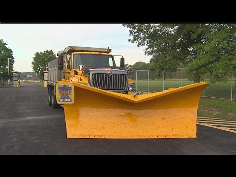 Mercer County Career Center students work on vintage snow plow