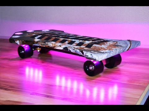 DIY skateboard with LED & Water Dipping Paint