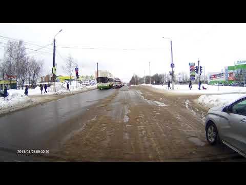 24 апреля 2018 Киров глазами автомобилиста после снегопадов