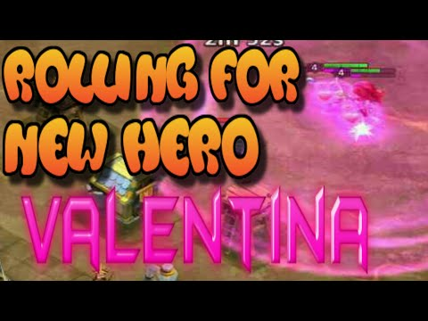 Rolling For The New Hero Valentina | Castle Clash