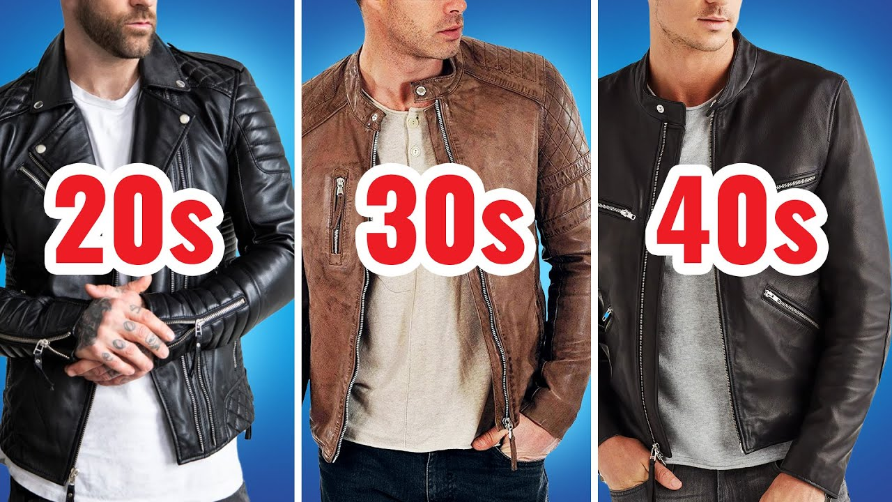 The Perfect Leather Jacket For Your Age Youtube