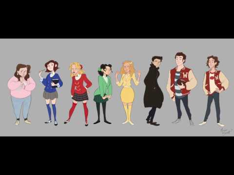 Drawing Timelapse: Heathers The Musical