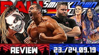 WWE RAW vs. SmackDown Review - STAFFELFINALE - 23./24.09.19 (Wrestling Podcast Deutsch)