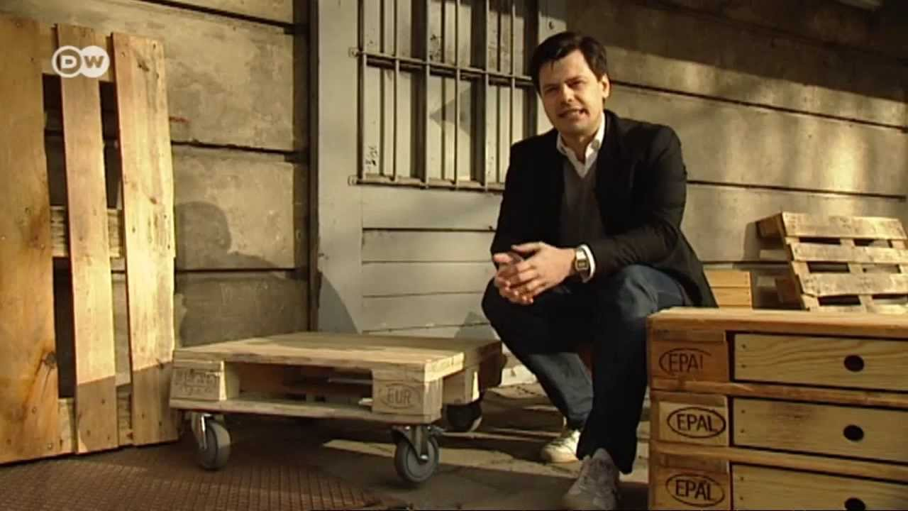 Design-Möbel aus Holz-Paletten  Euromaxx - YouTube