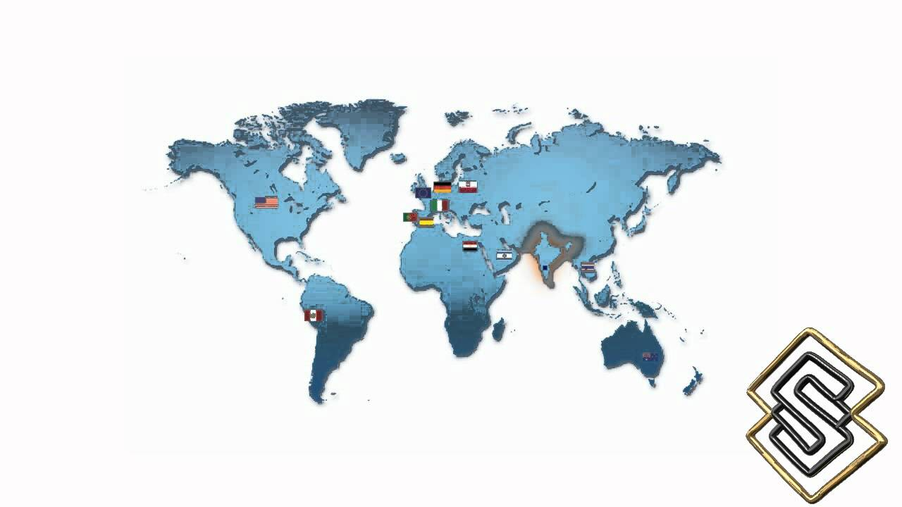 World Map With Countries Moving Animation  Web Designing And Web  Development India.