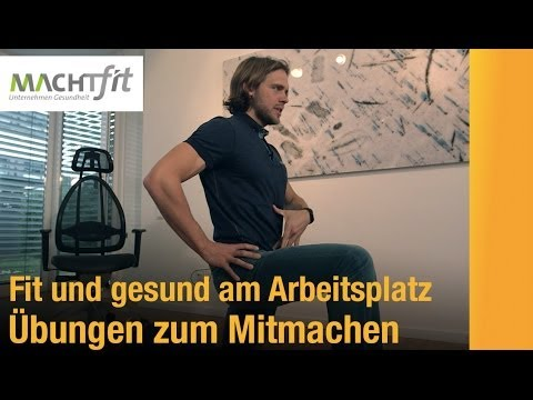 gesunder r cken und gute figur am arbeitsplatz so geht s youtube. Black Bedroom Furniture Sets. Home Design Ideas